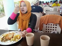 lunch after snorkelling