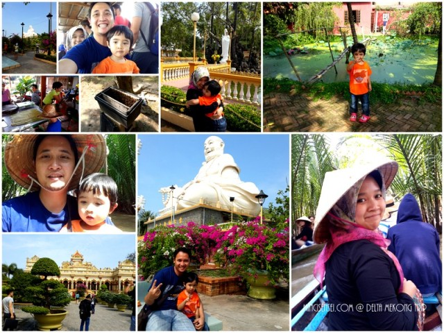 A day trip to the Mekong river. Took the 'sampan', watched the coconut candy making sessions, drank fresh honey in tea sprinkled with what looked like pollen. On the way to the river, stopped at a beautiful temple.