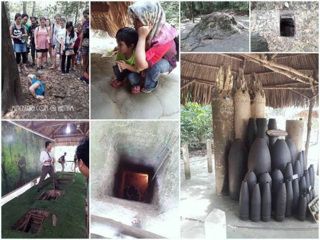Co Chi tunnel : Many displays of human torture machines. And guerilla tactics and weapons.