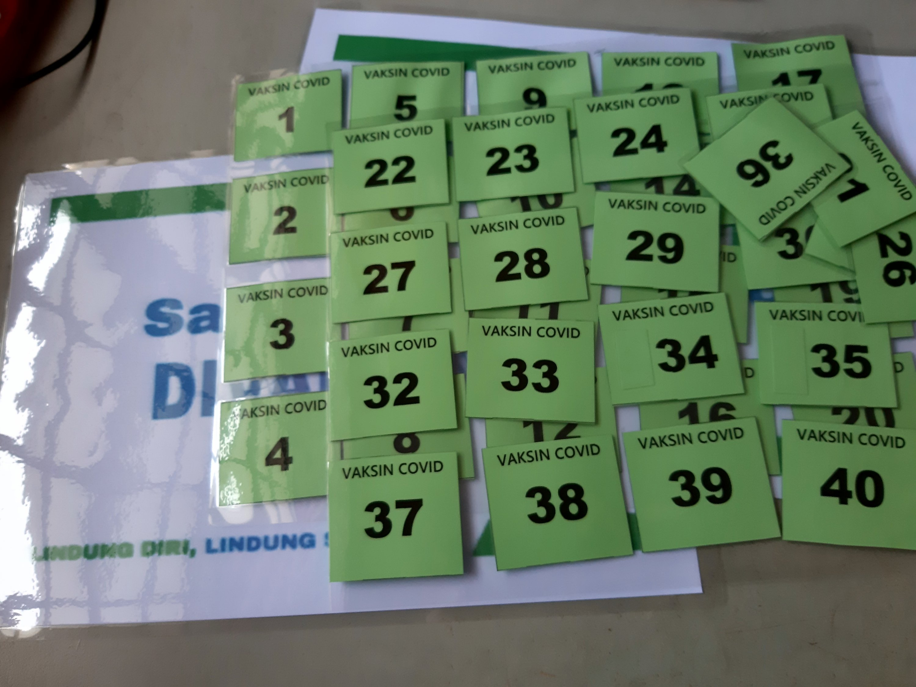 Laminating the numbers